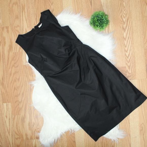 Banana Republic Ruched Side Black Dress 2 EUC